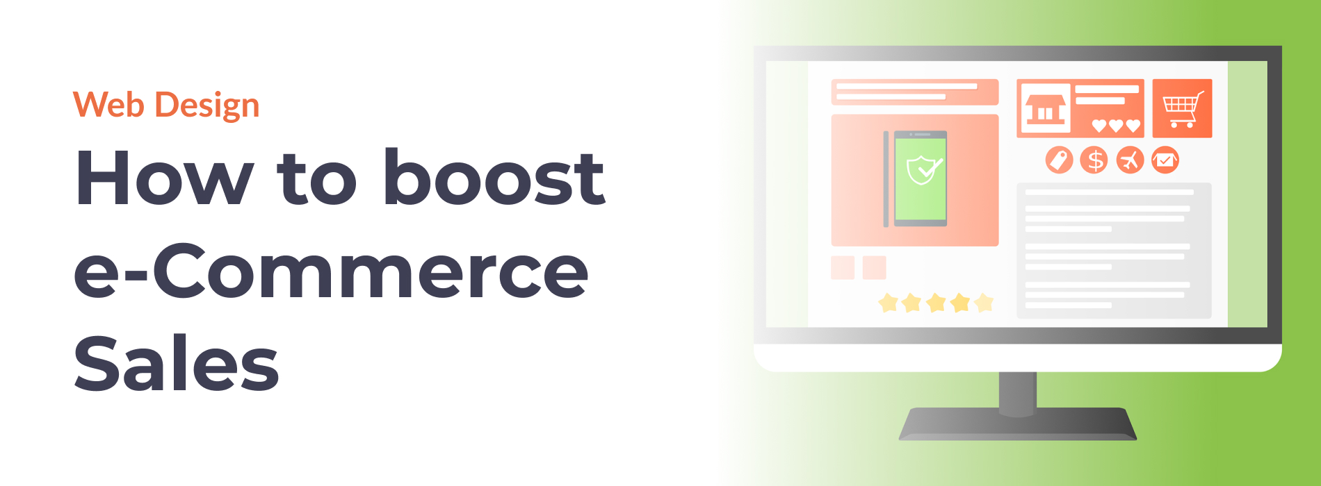 E-commerce Web Design heading - how to boost your e-commerce sales